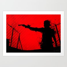 The Walking Dead Rick Art Print