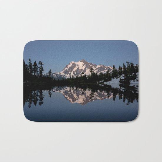 Mt. Shuksan - Blue Hour Reflection Bath Mat