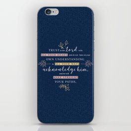 Trust in the Lord with All your Heart iPhone Skin