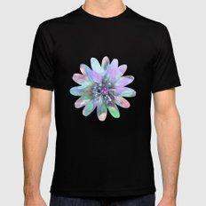 Fractal in Flower Mens Fitted Tee MEDIUM Black