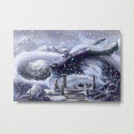 Arctic Dragon Metal Print