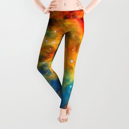 Rainbow Medusa Nebula Leggings