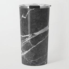 Matte Black Marble Travel Mug