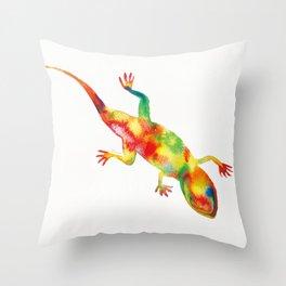 Mr. Lizard 1 Throw Pillow