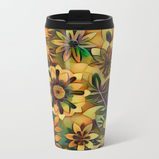 A Floral Dance Metal Travel Mug