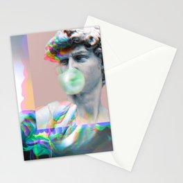 Vaporwave Glitch Stationery Cards
