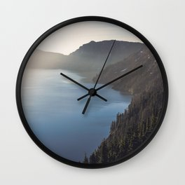 First Light at the Lake Wall Clock