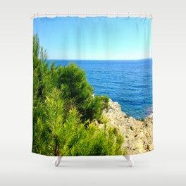 Cap Ferrat Seaside Shower Curtain