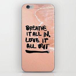 Pastel Pink Beach iPhone Skin