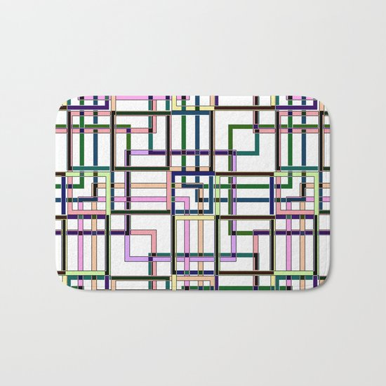 Abstract geometric pattern. Bath Mat
