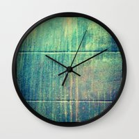 grunge Wall Clocks featuring Grunge by Jason Michael