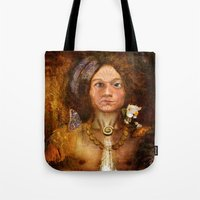 pagan Tote Bags featuring Pagan Avatar by Bryan Dechter