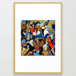 Salsa Salvaje Framed Art Print