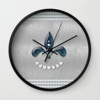 diamonds Wall Clocks featuring Diamonds by nicky2342