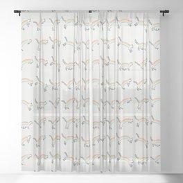 Rainbow Cat Sheer Curtain