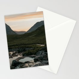 Beautiful sunset in Scotland | Mountain layers| On the road in Europe| Fine art travel print Stationery Cards