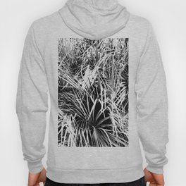 Palm Fronds In Black and White Abstract Photography Hoody