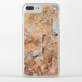 Shale rock surface texture Clear iPhone Case
