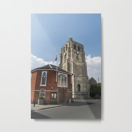Bell Tower and Town Hall Metal Print