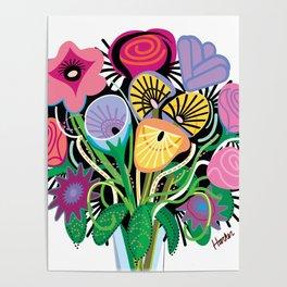 Animal Flowers Poster