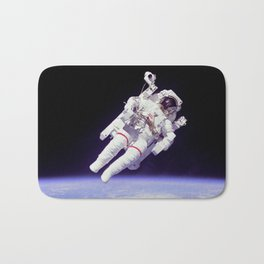 Astronaut on a Spacewalk Bath Mat