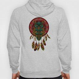 Colorful Dreamcatcher Owl Aztec Pattern Hoody