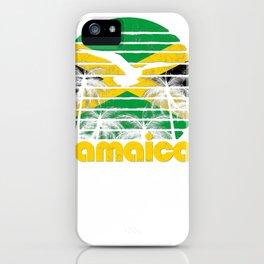vintage retro jamaica flag jamaican 70's 80's men ladies gift pullover tee iPhone Case