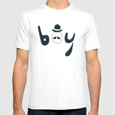Boy White MEDIUM Mens Fitted Tee
