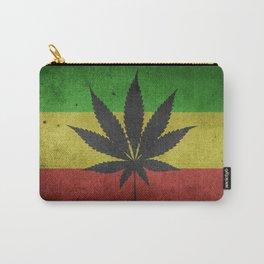 Rastafarian Flag with Marijuana Leaf Carry-All Pouch