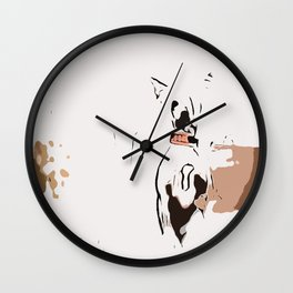 Chinese crested 7 Wall Clock