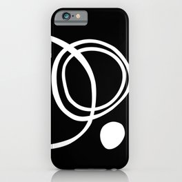 Line Art, Modern, Minimal, Black and White iPhone Case