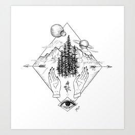 Create/Complicate Art Print
