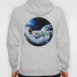 Astronaut on the Moon with beer Hoody