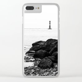 Morris Island Lighthouse Clear iPhone Case