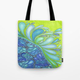 Aqua Splash Tote Bag