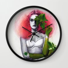 Garden Girls 3 - Mint Wall Clock