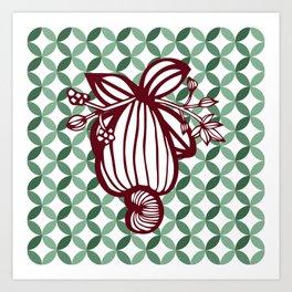 Retro Cashew Art Print