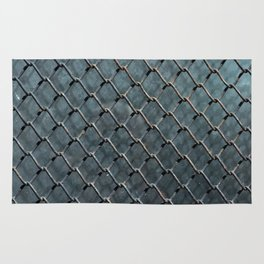 Wire and glass background texture pattern close detail Rug