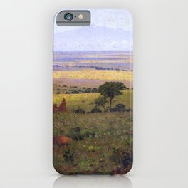 Athi Plains, Mount Kenya, Kenya, Africa Landscape by William R. Leigh iPhone Case