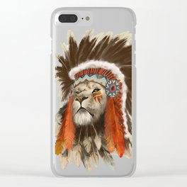 Lion Chief Clear iPhone Case