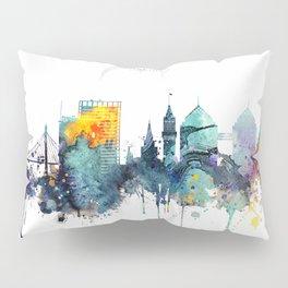Oakland California Blue  skyline print Pillow Sham