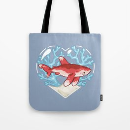 PECK the Whitetip Reef Shark Tote Bag