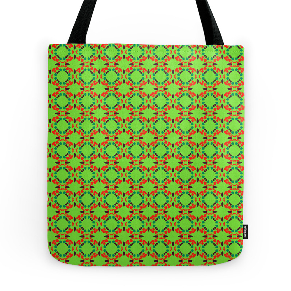 Red Pattern Two Tote Purse by laisrauber (TBG9848298) photo