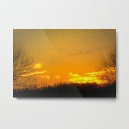 January Sunet - Lehigh Valley (Impressionist Version) Metal Print