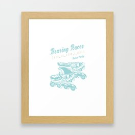Bearing Races Rollerblades Skates Retro Framed Art Print