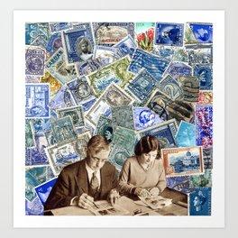 Stamp series no.2 Art Print