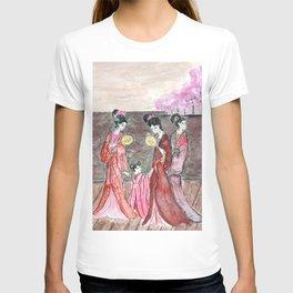 Four ancient Oriental beauties T-shirt