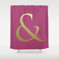 ampersand Shower Curtains featuring AMPERSAND by Annie Neusteter