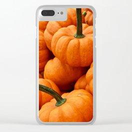 Autumn Pumpkins Clear iPhone Case
