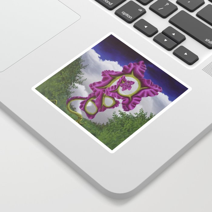 Purple Poppy Flower Sticker